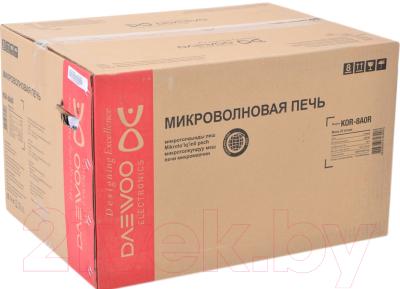Микроволновая печь Daewoo KOR-8A0R - коробка