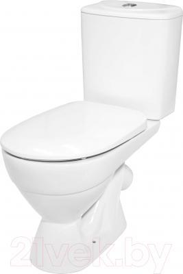 Унитаз напольный Керамин Палермо Дуал Premium (с жестким сиденьем и микролифтом)