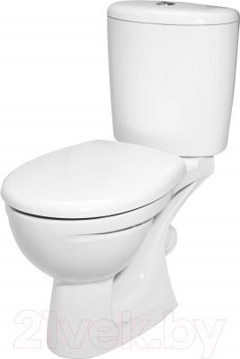 Унитаз напольный Керамин Лидер Дуал Premium (с жестким сиденьем)