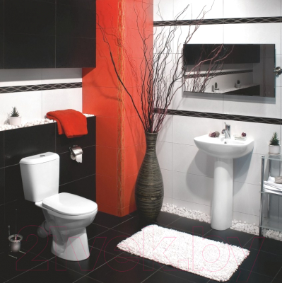 Унитаз напольный Керамин Сити Дуал Premium (с жестким сиденьем)