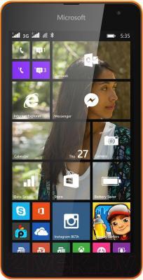 Смартфон Microsoft Lumia 535 Dual (оранжевый) - общий вид