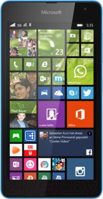 Смартфон Microsoft Lumia 535 Dual (бирюзовый) - общий вид