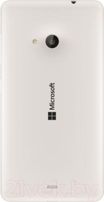 Смартфон Microsoft Lumia 535 Dual (белый) - вид сзади