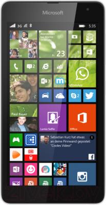 Смартфон Microsoft Lumia 535 Dual (белый) - общий вид