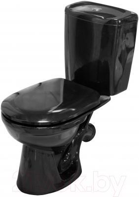 Унитаз напольный Керамин Омега Алкапласт Standard (с черным, мягким сиденьем)