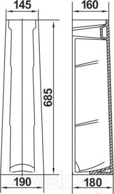 Пьедестал Керамин Омега Standard (черный)