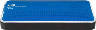 Внешний жесткий диск Western Digital My Passport Ultra 1TB Blue (WDBZFP0010BBL) - вид сбоку