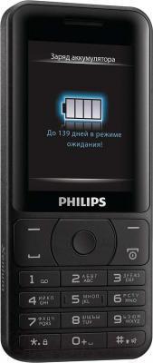 Мобильный телефон Philips Xenium E180 (черный) - общий вид