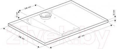 Полка для кухонной техники Holder SKA-W (белый) - габаритные размеры