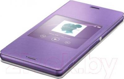 Чехол-книжка Sony SCR24 (фиолетовый, с окошком) - общий вид