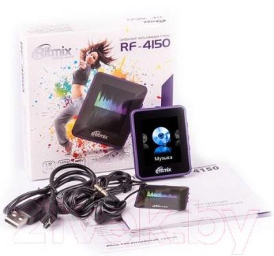 MP3-плеер Ritmix RF-4150 (фиолетовый) - комплектация