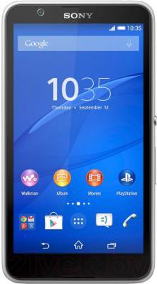 Смартфон Sony Xperia E4 / E2105 (белый) - общий вид