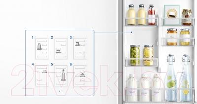 Холодильник с морозильником Samsung RB37J5250EF/WT