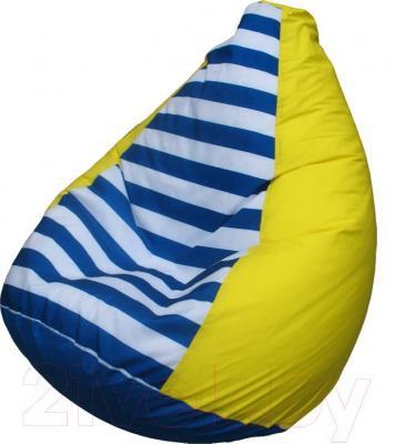 Бескаркасное кресло Flagman Груша Мега Г3.1-0717 (желтый в полоску) - общий вид