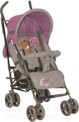 Детская прогулочная коляска Lorelli Fiesta (Beige Violet Bear) - общий вид