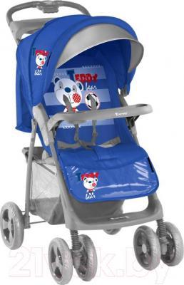 Детская прогулочная коляска Lorelli Foxy (Blue Soccer) - общий вид