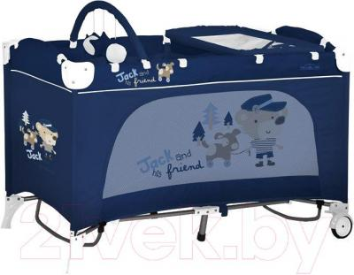 Кровать-манеж Lorelli Travel Kid 2 Rocker (Blue Jack) - общий вид