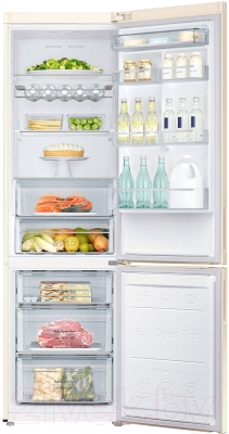 Холодильник с морозильником Samsung RB37J5240EF/WT - внутренний вид