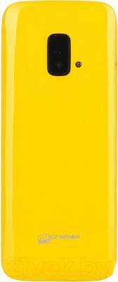 Мобильный телефон Micromax X245 (желтый) - вид сзади