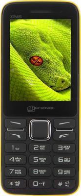 Мобильный телефон Micromax X245 (желтый) - общий вид