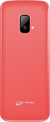 Мобильный телефон Micromax X245 (красный) - вид сзади