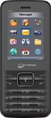 Мобильный телефон Micromax X2411 (серый) - общий вид