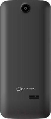 Мобильный телефон Micromax X2411 (серый) - вид сзади
