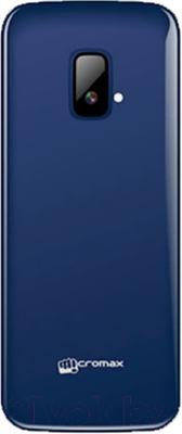 Мобильный телефон Micromax X245 (серо-голубой) - вид сзади