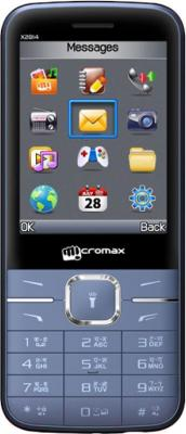 Мобильный телефон Micromax X2814 (синий) - общий вид