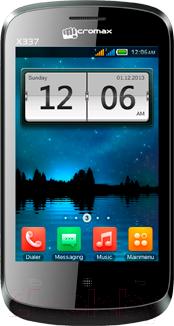 Мобильный телефон Micromax X337 (серый) - общий вид