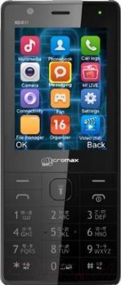 Мобильный телефон Micromax X2401 (черный) - общий вид