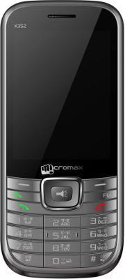 Мобильный телефон Micromax X352 (серый) - общий вид
