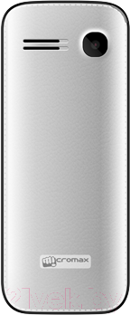 Мобильный телефон Micromax X2050 (белый) - вид сзади