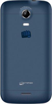 Смартфон Micromax Canvas Turbo Mini A200 (темно-синий) - вид сзади