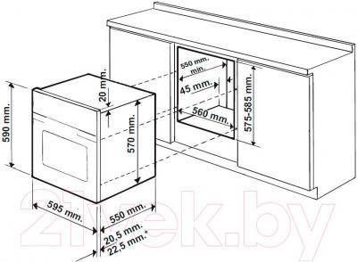 Электрический духовой шкаф Hotpoint FK 1047L P. O X/HA