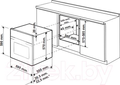 Электрический духовой шкаф Hotpoint FK 1037EN 1 X/HA