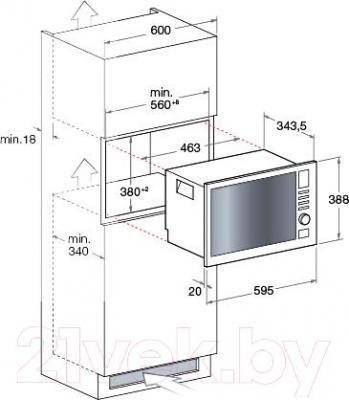 Микроволновая печь Hotpoint MWA 121.1 X/HA - схема