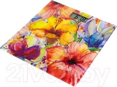 Напольные весы электронные Scarlett SC-BS33E071 (цветы) - общий вид