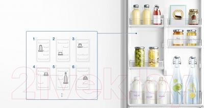 Холодильник с морозильником Samsung RB41J7851S4/WT
