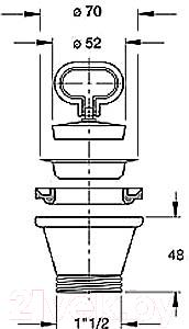 Выпуск (донный клапан) Bonomini 1944MG64B0 - схема