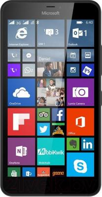 Смартфон Microsoft Lumia 640 XL Dual (черный) - общий вид