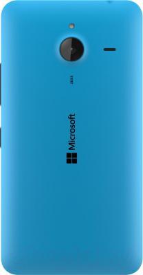 Смартфон Microsoft Lumia 640 XL Dual (голубой) - вид сзади