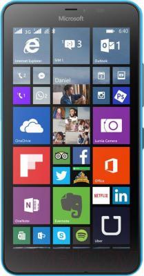 Смартфон Microsoft Lumia 640 XL Dual (голубой) - общий вид