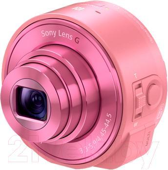 Объектив для смартфона Sony DSC-QX10 (розовый) - общий вид