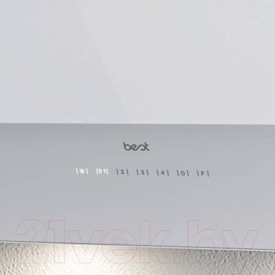 Вытяжка декоративная Best Flap 55 (белое стекло)