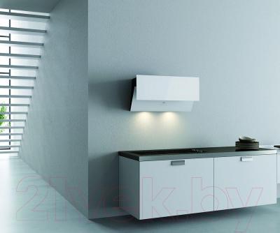 Вытяжка декоративная Best Flap 80 (белое стекло) - в интерьере