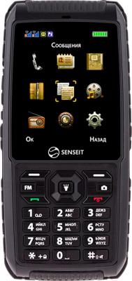 Мобильный телефон Senseit P101 (черный) - общий вид