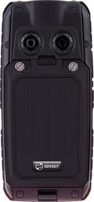Мобильный телефон Senseit P101 (черный) - вид сзади