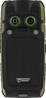 Мобильный телефон Senseit P101 (зеленый) - вид сзади