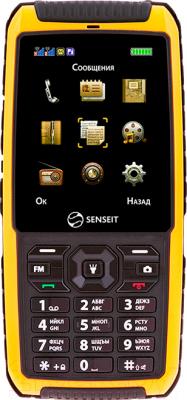 Мобильный телефон Senseit P101 (желтый) - общий вид